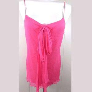 DVF Aella Silk Bow Front Camisole